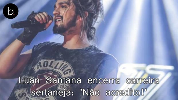 Luan Santana encerra carreira no sertanejo e fãs choram: 'Não acredito!'