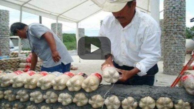 Reconstruyendo México con botellas de PET