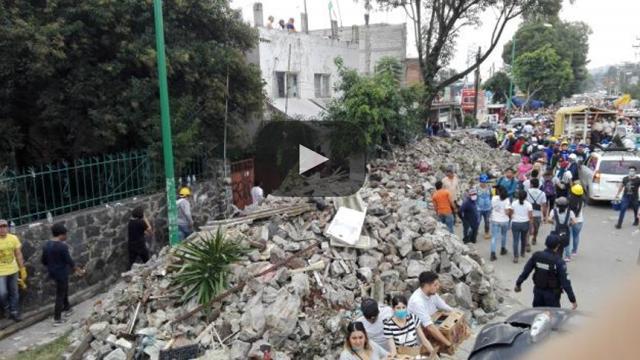 Imágenes de las zonas dañadas una semana después del sismo
