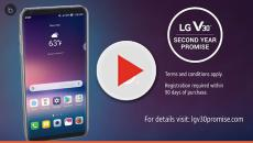LG with AT&T is offering a 2-year Warranty promise for the V30