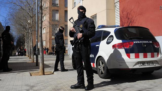 La actuación de la policía ante el referéndum catalán