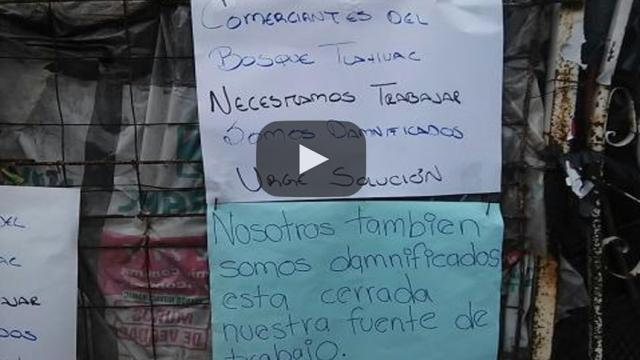 México: Damnificados por sismo del 19s de Tlahuac se manifiestan