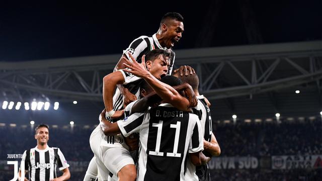 La Juventus vence agónicamente 2 por 1 a sporting CP en Champions League