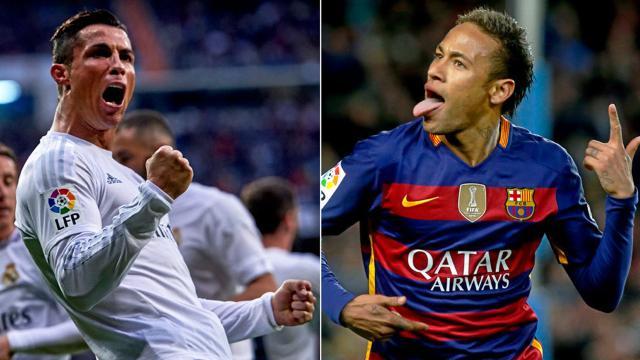 Neymar busca a Cristiano Ronaldo para saludarlo