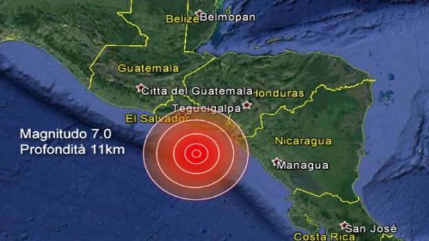 Terremoto 6.6 della scala Richter in Costa Rica