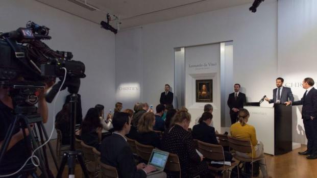 Subastan cuadro de Da Vinci por 450.3 MDD en Nueva York