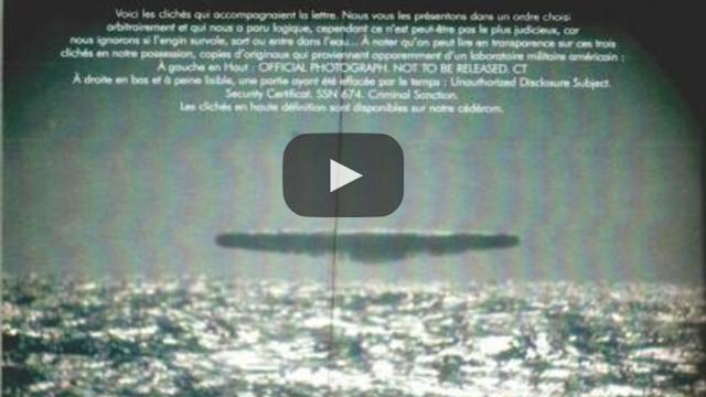 OVNIS reales fotografiados por un submarino norteamericano