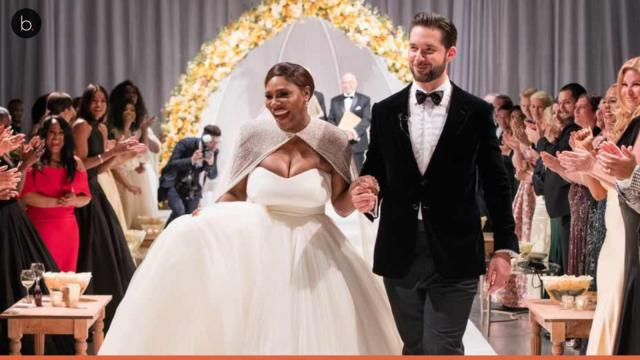 Vídeo: casamento de Serena Williams marca encontro de rivais