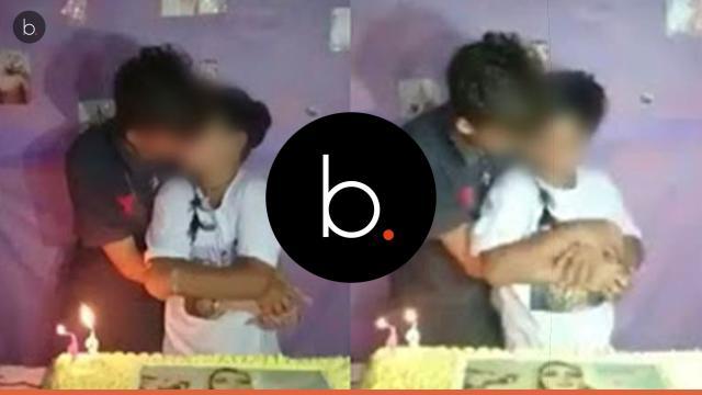 Vídeo viraliza: garoto beija o namorado em festa de aniversário