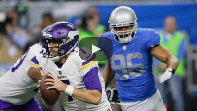 Keenum y Thielen guían a los Vikings a ganar en Detroit y asegurar la NFC Norte