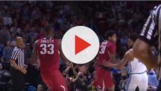 University of North Carolina gets the win versus Arkansas