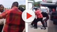 Vídeo: Mulher grávida apanha sem dó do namorado por descobrir traição