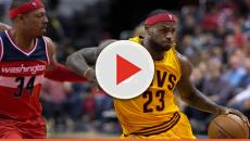 LeBron James played in three different shoes against the Kings