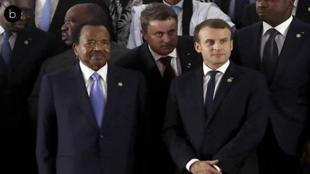 Macron reçoit le président Paul Biya en visite à l'Élysée