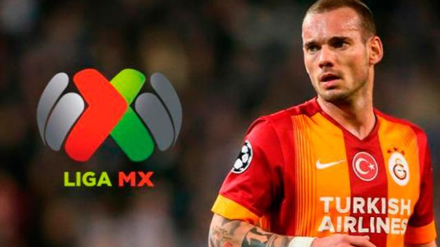 Wesley Sneijder estaría a una firma de llegar a la Liga MX
