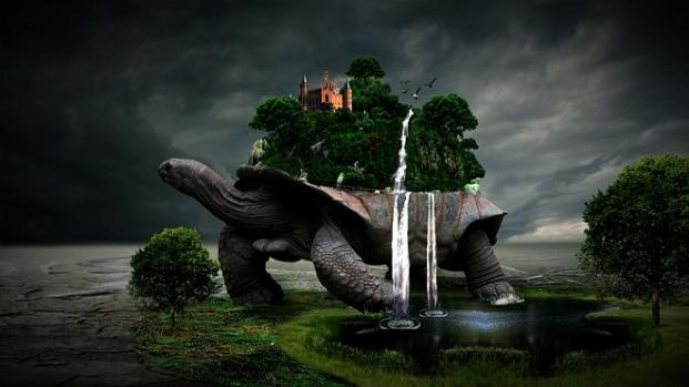 Mitología: La tortuga escudo se confundía con una isla