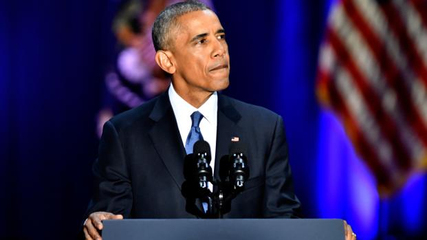 Première conférence privée de Barack Obama à Paris