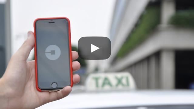 Rivalidad entre las empresas de transporte, los taxistas vs uber1