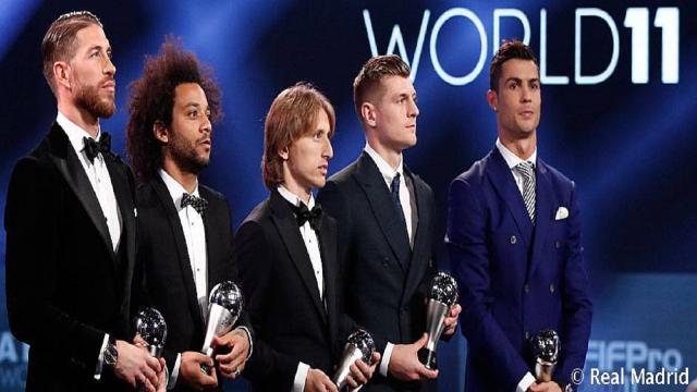Cinco jugadores del Real Madrid en el equipo del año de la UEFA 2017