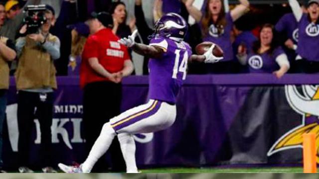 Vikings dejan tendidos en el terreno a los Saints, con pase de 61 yardas