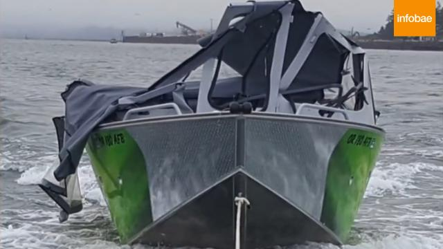 VIDEO: momentos dramáticos, tres pescadores saltan al agua para sobrevivir