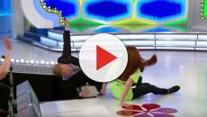 Drew Carey takes a hard fall on 'The Price Is Right' stage