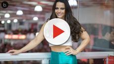 Assista: Viviane Araujo toma tombo, fica de quatro e quase mostra tudo em vídeo