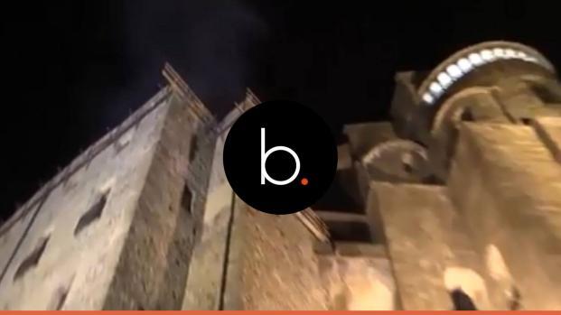 Val Di Susa, Abbazia in fiamme: brucia il tetto per corto circuito