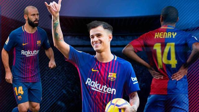 Coutinho usará los 14 de Cruyff en el Barça