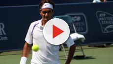 Roger Federer en la final del Abierto de Australia después de se retira Chung