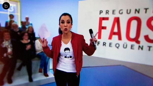 enfrentamiento en televisión entre Pilar Rahola y Sergio Santamaría del PP