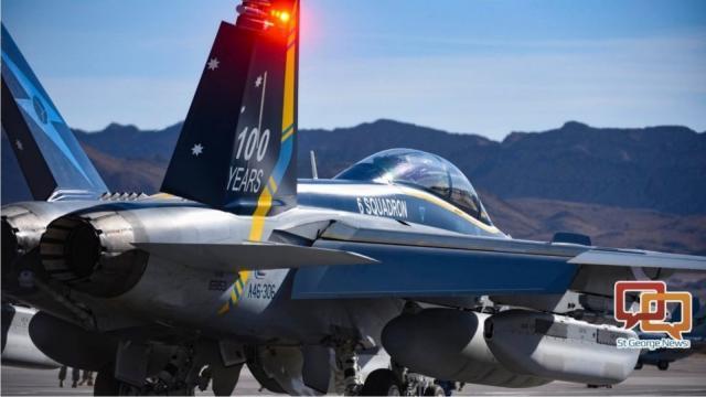 Un avión militar se estrella en la base aérea de Nellis al despegar