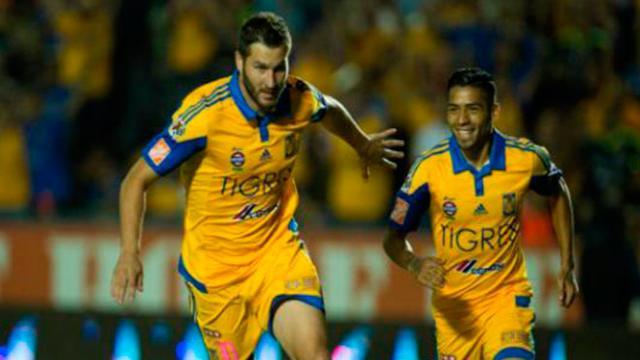 Con increíble gol del chileno Edu Vargas, gana Tigres