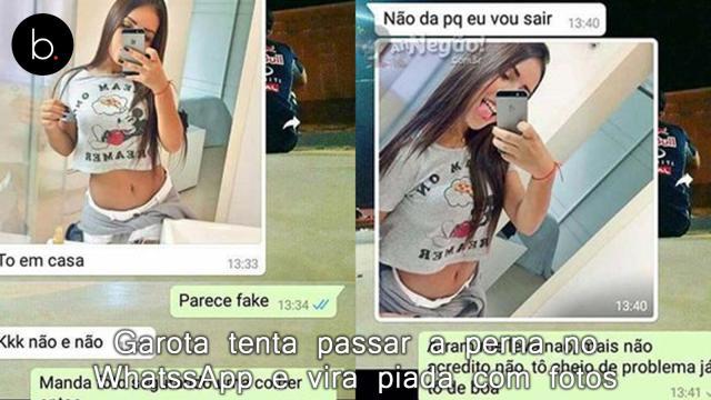 Garota tenta passar a perna no WhatssApp e vira piada com fotos