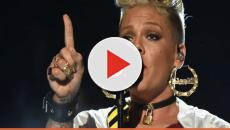 Pink performs once more at top-level at the 60th Grammy awards.