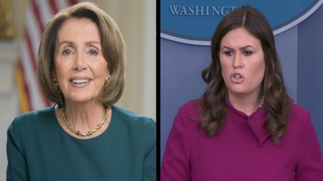 Sarah Sanders se burló al decirle a Nancy Pelosi que 'sonriera mucho más'