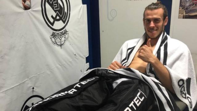Curioso programa de entrenamiento de Bale con máscara de oxígeno