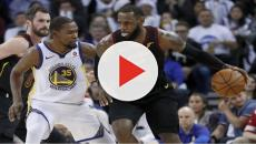 KD reacts to the report of LeBron could join the Warriors