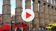Acueducto de Segovia protagonista de un intento de suicidio