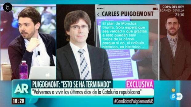 Las filtraciones de los mensajes de Carles Puigdemont