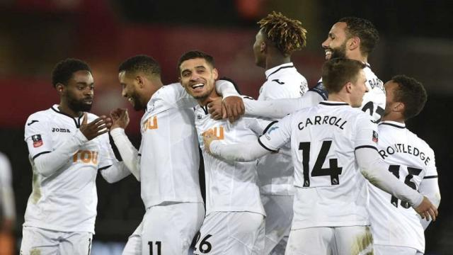 Swansea City golea al Notts County 8-1