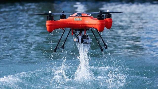 Drone presentado y su ejemplo de aplicación
