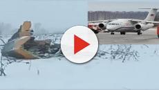 Un avión ruso se estrelló cerca de Moscú