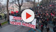 Macerata: la violenza nel corteo antifascista