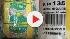 Pasta biologica infetta da parassiti ritirata: la marca e il numero di lotto