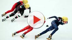 La atleta Elise Christie sufre un accidente en los Juegos Olímpicos