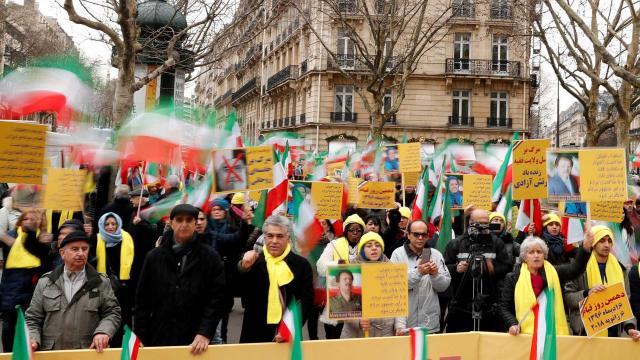 Iraníes celebran el 39º aniversario de su revolución
