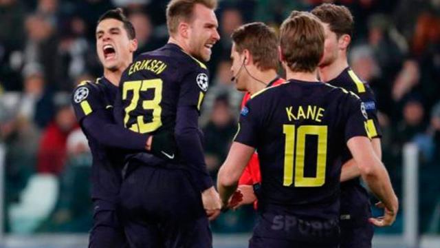 Kane y Eriksen ayudan al empate a 2 del Tottenham en casa de la Juventus