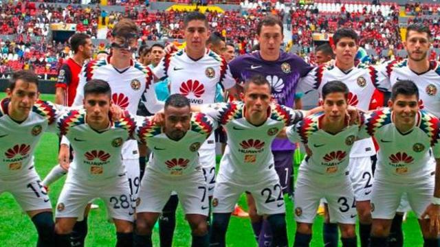 La alineación del Club América frente a Monarcas Morelia