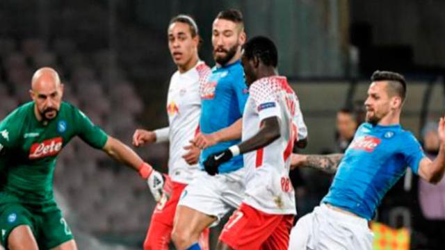 Leipzig con un 3-1 en Nápoles, parece eliminar a un pez gordo en Europa League